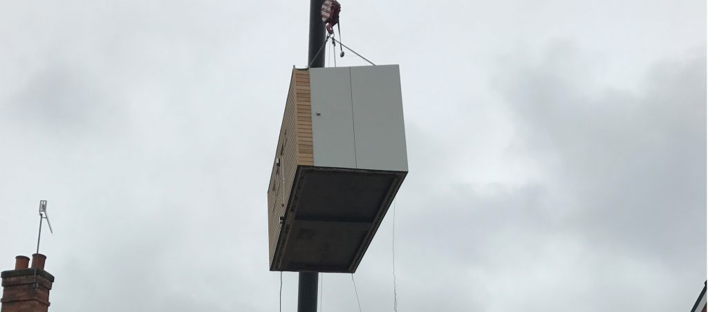 iKozie being lowered into place